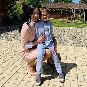 Alex Mynářová s milovaným synem.