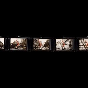 Andy Warhol a jeho náramkové hodinky - Dark Steel, 2,4 x 22,5 cm.