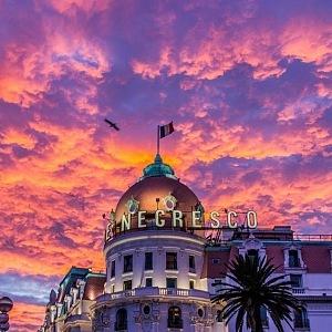 Le Negresco Hotel v Nice.