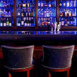 Blue bar v New Yorku, interiér
