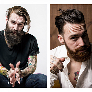 Hipster fashion men Barbershop