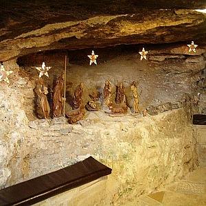 Vnitřní prostor jeskyně nedaleko Betléma