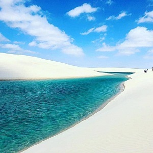 Beautiful Lençóis Maranhenses in Brazil