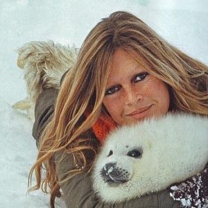 Brigitte Bardot s tuleněm