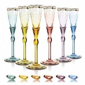 Skleničky na šampaňské - škála barev