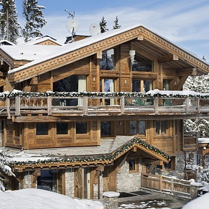 chalet Courchevel- exteriér