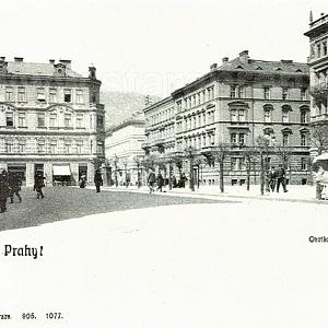 Původní Chotkova třída na místě Vítězné ulice