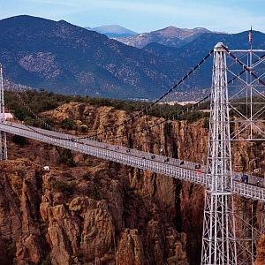 Royal Gorge Bridge v celé své kráse