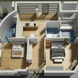 Pohled do domu vyrobeného 3D tiskem