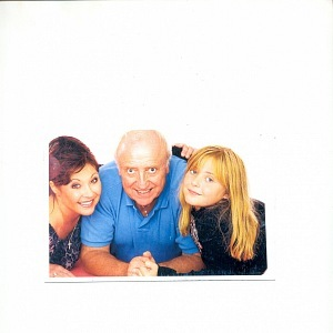 With daughter Anička and husband Felix