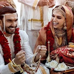 Krásná Deepika se svým manželem.