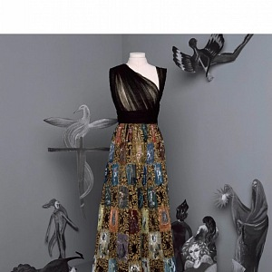 Barevné šaty z kolekce Dior Fall 2020 Haute Couture