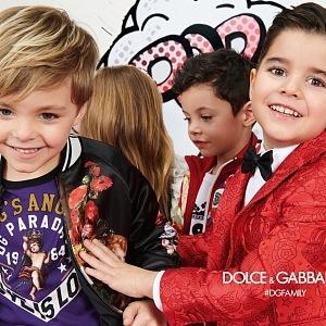 Dolce&Gabbana Fall Winter 2018-19 dětská kampaň.