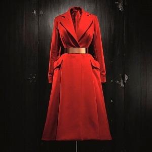 Vlněný kabát Haute Couture FW 2012 - autor Raf Simons