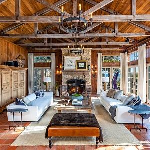 Obývací část domu Mela Gibsona