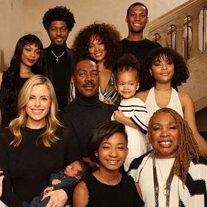 Ediie Murphy se svou rodinou