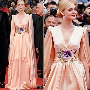 Elle Fanning - dress Gucci