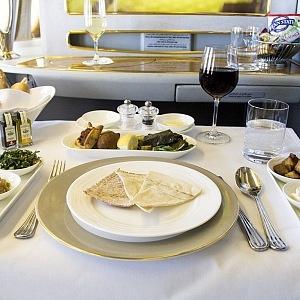 Prvotřídní pokrmy v první třídě Emirates