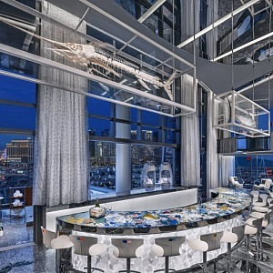 Special bar in Empathy suite in Palms Casino, Las Vegas