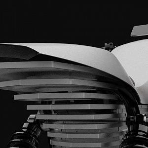 Ethec elektická motorka, detail zadní části