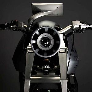 Ethec elektická motorka, přední část