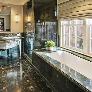 Luxury bathroom in the bungalow of Howard Hughese