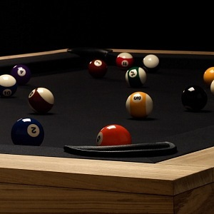 Pool table in luxury design