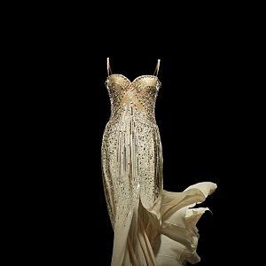Hedvábné šaty Haute Couture 2008 - autor John Galliano