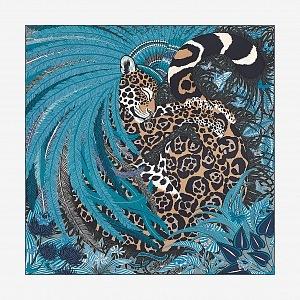 Jaguár na luxusním šátku Hermès