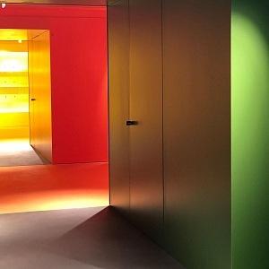 Harrods oddělení hraček, barevné spektrum