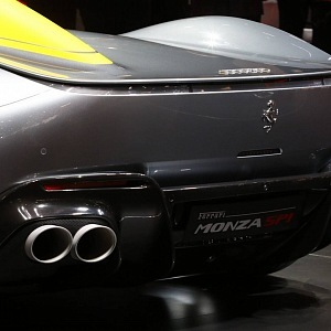 Ferrari Monza SP1, zadní část a výfuk