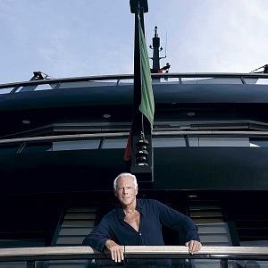 Armani with his yacht Main