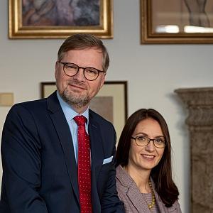 Petr Fiala s manželkou Janou.