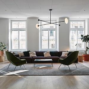 Studio Fjord Helsinki jakoby obývací část