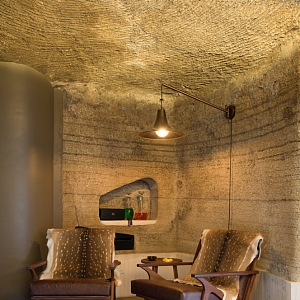 Interior of a house in a cave