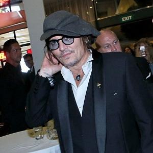 Johnny Depp na závěrečném večeru MFF Karlovy Vary