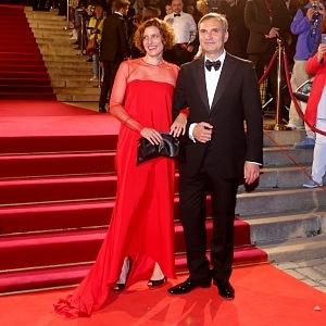 Jiří Macháček with wife