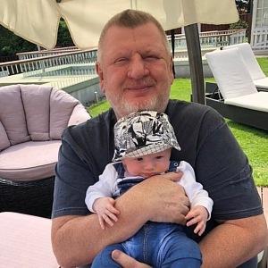 Ivo Rittig s nemladším potomkem.