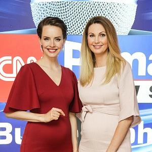 Gabriela v době těhotenství se Sandrou Parmovou.