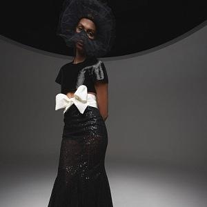 Bílo-černé šaty Giambattista Valli Fall 2020 Haute Couture