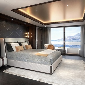 Luxury interior in the yacht Global 330