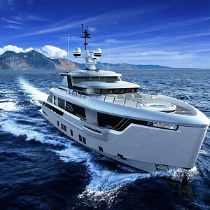 Jachta Global 330 a i průzkumní podvodní plavidlo