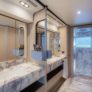 Luxusní koupelna jachty Grande 32 Metri
