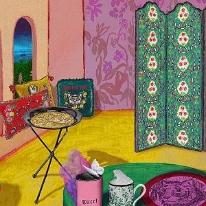 Interiérové dekorace Gucci