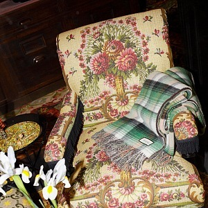 Chair with floral print