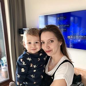 Monika Hejduková se synem.