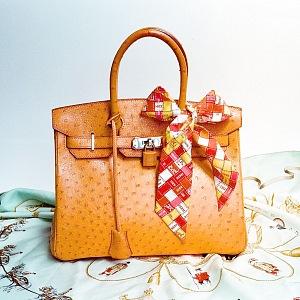 Kabelka Birkin oranžová kůže