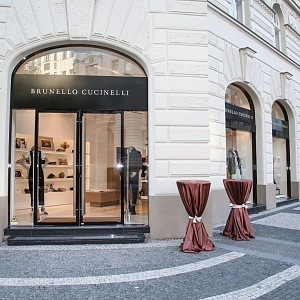 The opening of the Brunello Cucinelli boutique in Prague in 2017