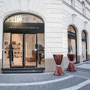 Otevření butiku Brunello Cucinelli v Praze 2017
