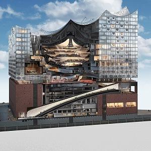 Elbphilharmonie vnitřní část budovy